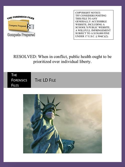 Fall UIL LD File - Public Health v. Individual Liberty