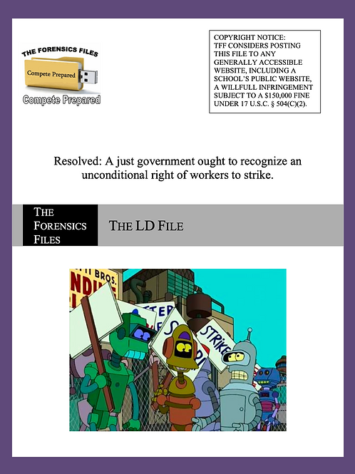 Nov/Dec LD File (NSDA) - Right to Strike