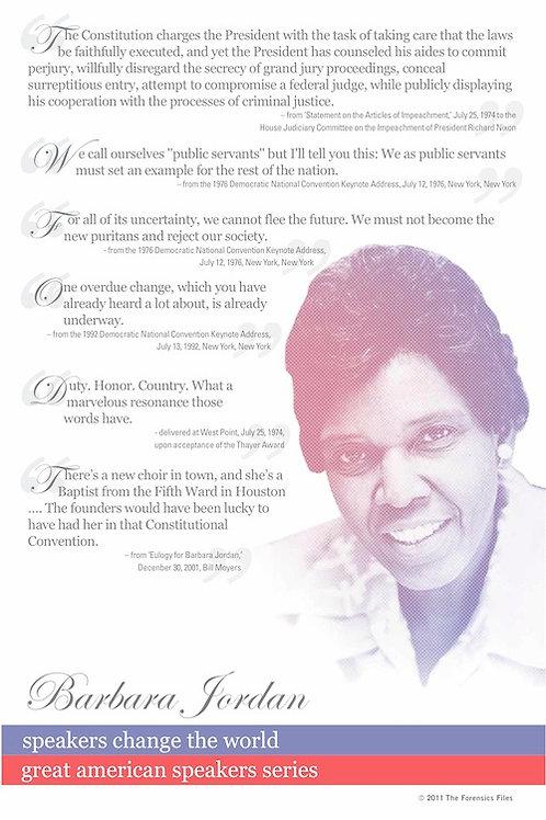 Barbara Jordan Poster