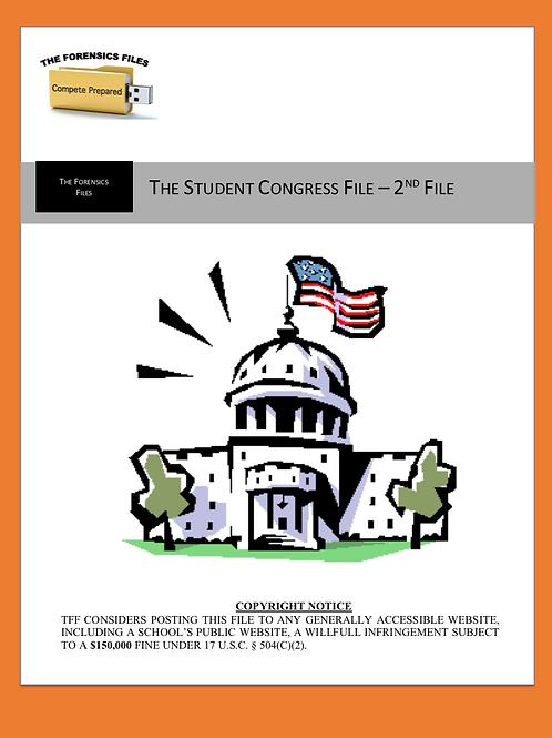 Congressional Debate File (2nd - 50 Topics)