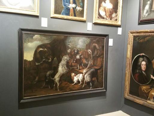 DUTCH DOGS PAINTING AT LAPADA ART FAIR, LONDON