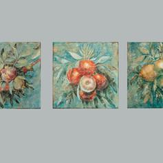 "Imitation of fresco inspired by ""Logge del Vaticano"", Raffaello and co-workers, 1500-1550. Acrylic on canvas, cm 25x25"