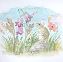 The mouse and the flowers