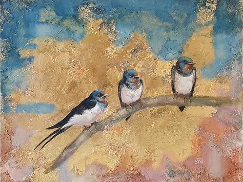 Awaiting Spring, original painting