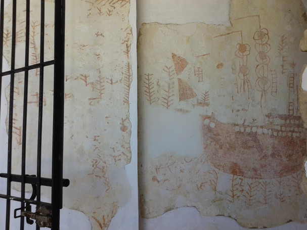 Pinturas en la ermita del alcazar de Reina