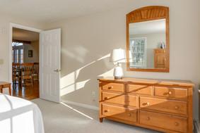 First floor guest room with queen bed