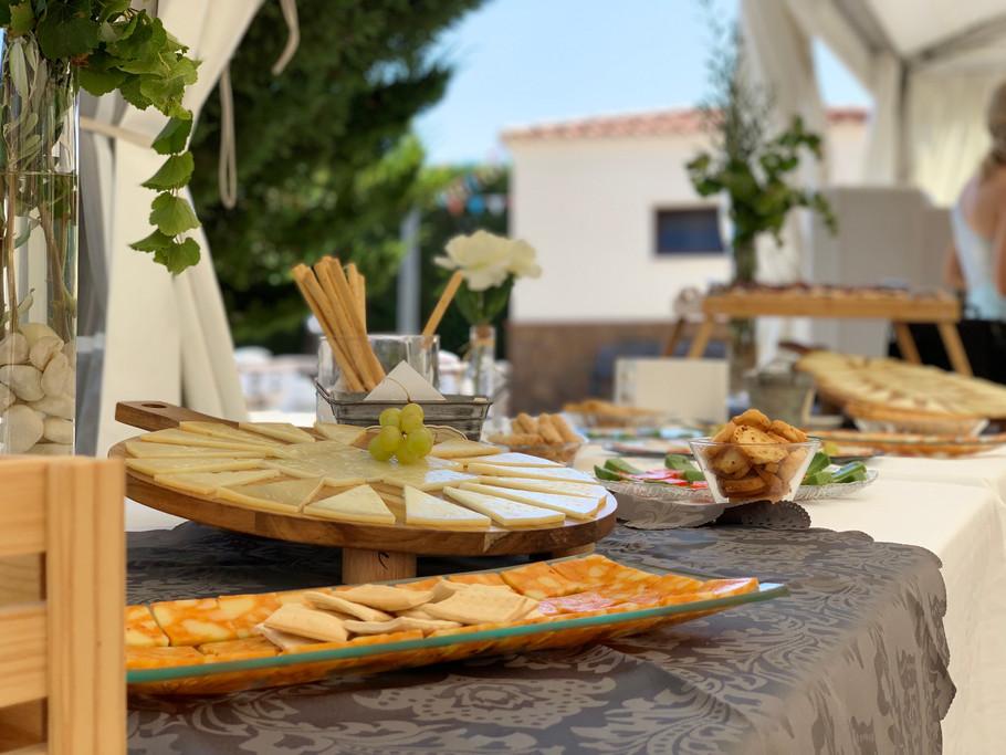 Detalle de decoración mesas exteriores