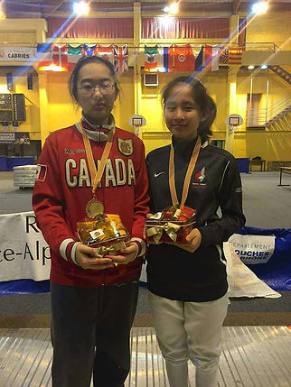 Huahua Fencing Club win Bronze for Canada in Europe Cup