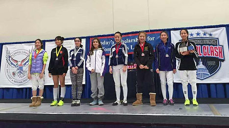 Huahua Fencers win gold in tournaments in US