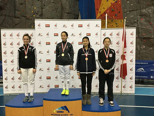 Huahua Fencers win medal in Canada Cup