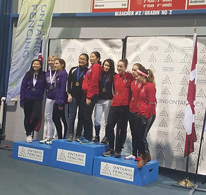 Huahua Fencing Club from Toronto wins medals at Provincial Championships
