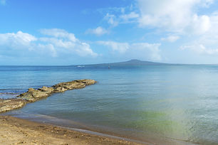 View of Rangitoto Island from St. Heliers Beach, part of Quick Day Trip - Auckland's Paradise Tour - Around The Bay's