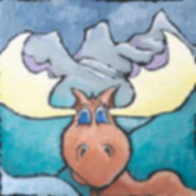 Kelly VanderBeek - Painting Series 'Hal The Moose'