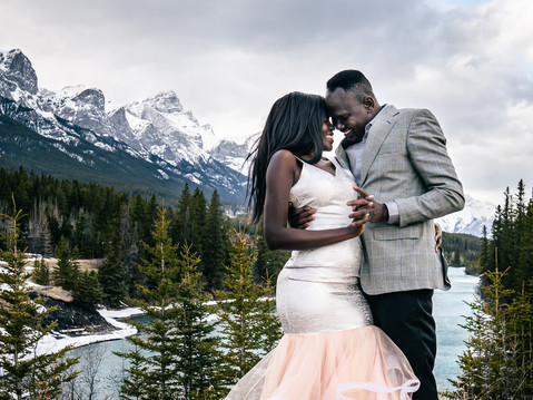 Calgary Couple in Canmore - Viola & Majock