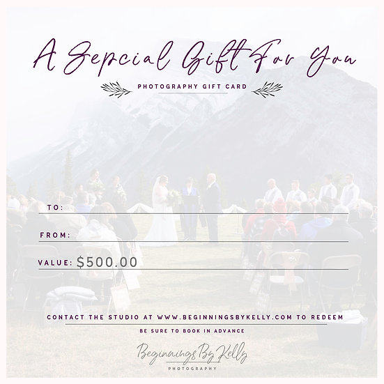 $500 Gift Card - Beginnings By Kelly