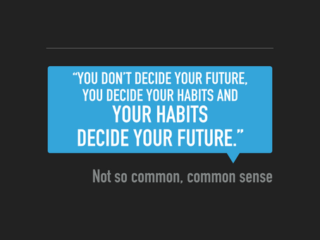 New Year's Resolution - Focus On Habits For Big Change