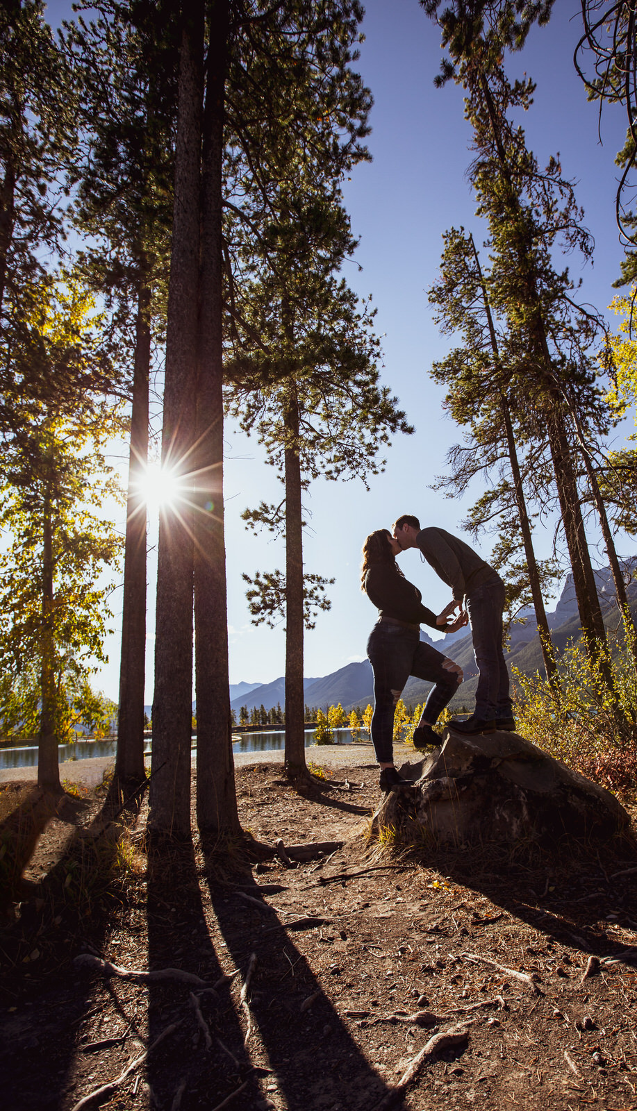 No Excuse Needed - couples portraits in Canmore