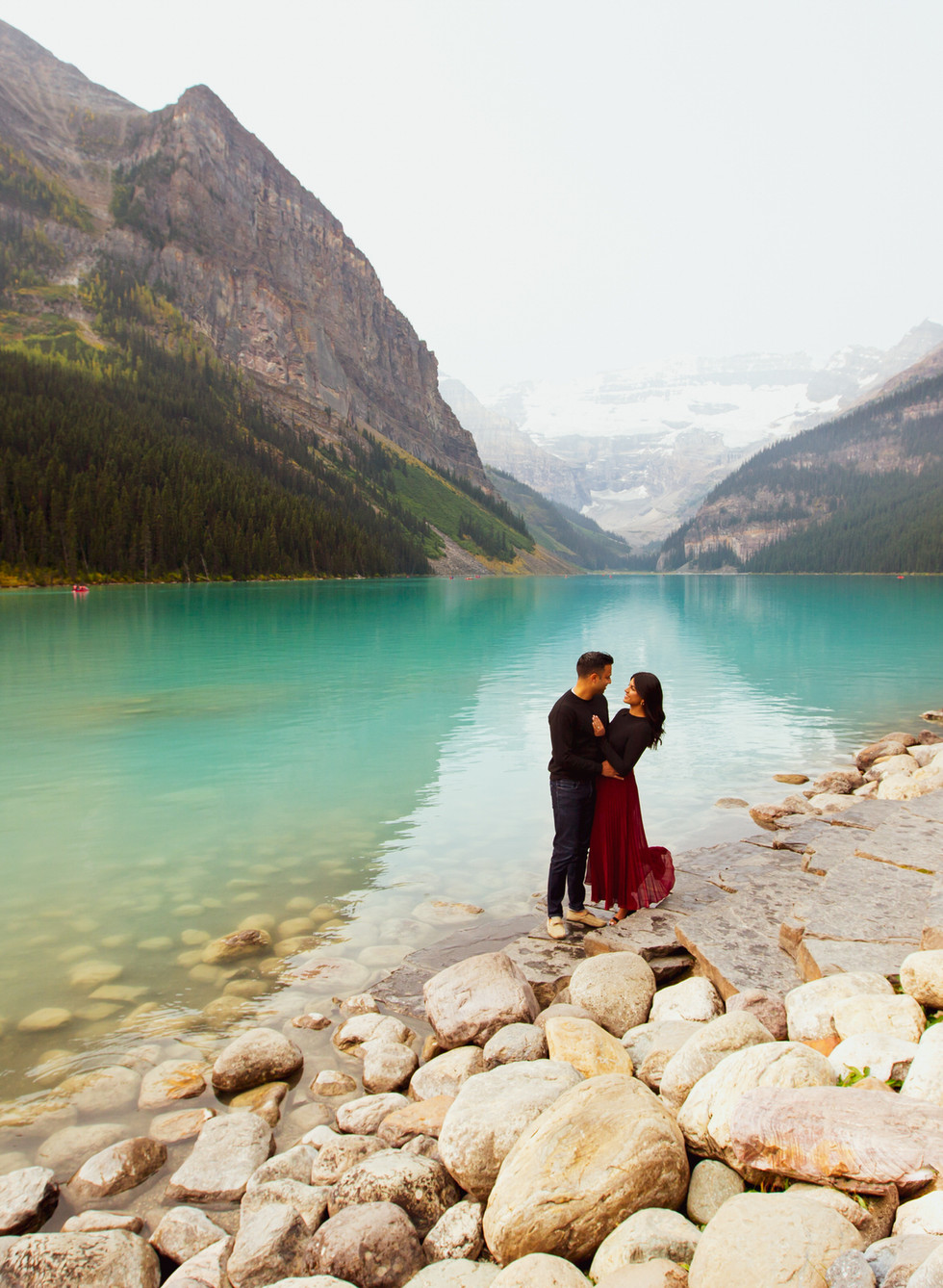A New Chapter - Engagement Portrait in Lake Louise