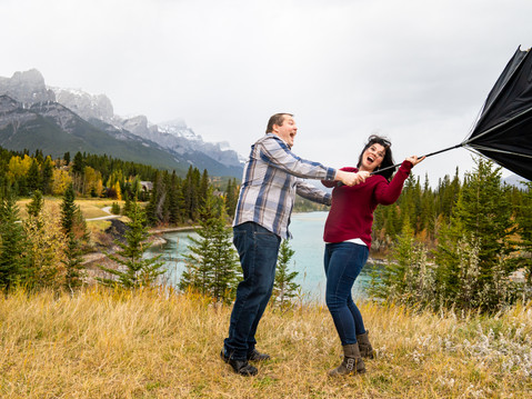 Vegas Couple Flying High In The Bow Valley