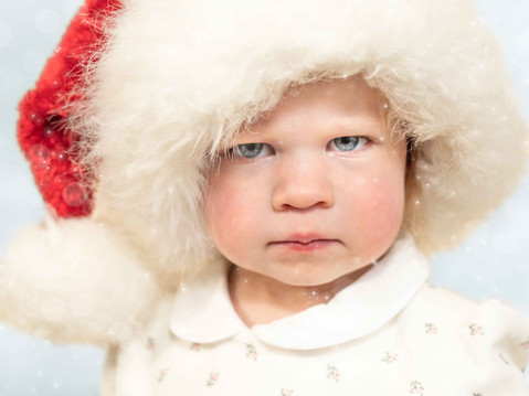Grumpy Santa - A Toddler's Portrait Session in Canmore, AB