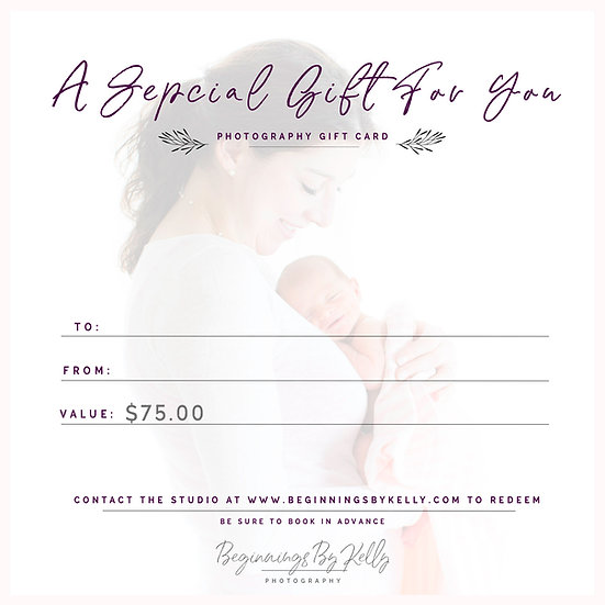 $75 Gift Card - Beginnings By Kelly