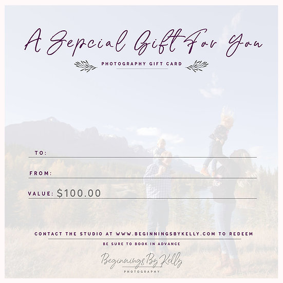 $100 Gift Card - Beginnings By Kelly
