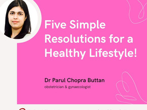 Five Simple Resolutions for a Healthy Lifestyle!
