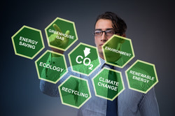 Businessman in ecology and environment c
