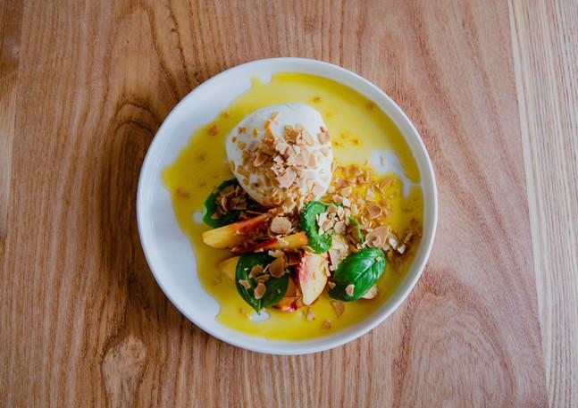 Burrata, nectarines, chilli & basil