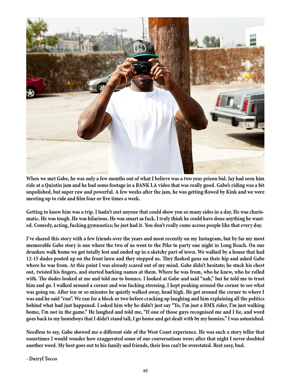 BMX magazine article