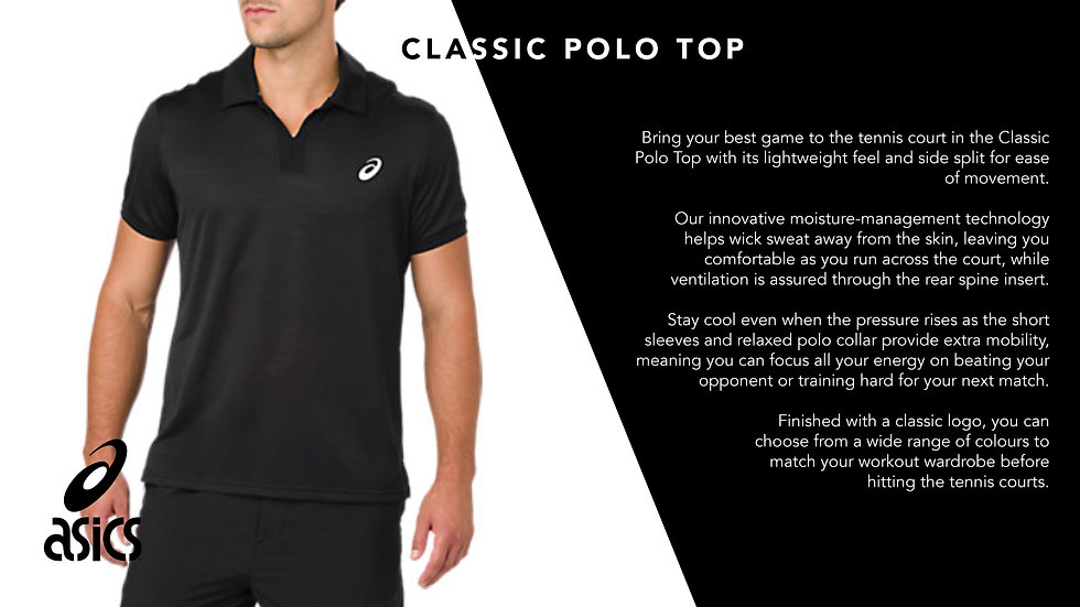 ASICS Mens Classic Polo Top