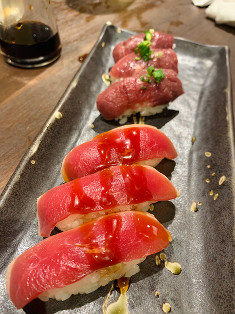 Duck sashimi, horse sashimi