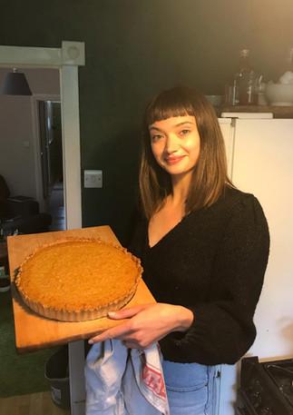 Jenny with a treacle tart