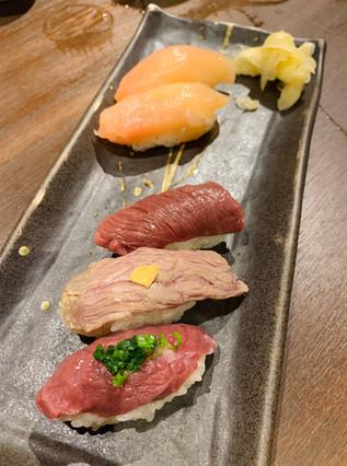 Chicken sashimi, horse sashimi