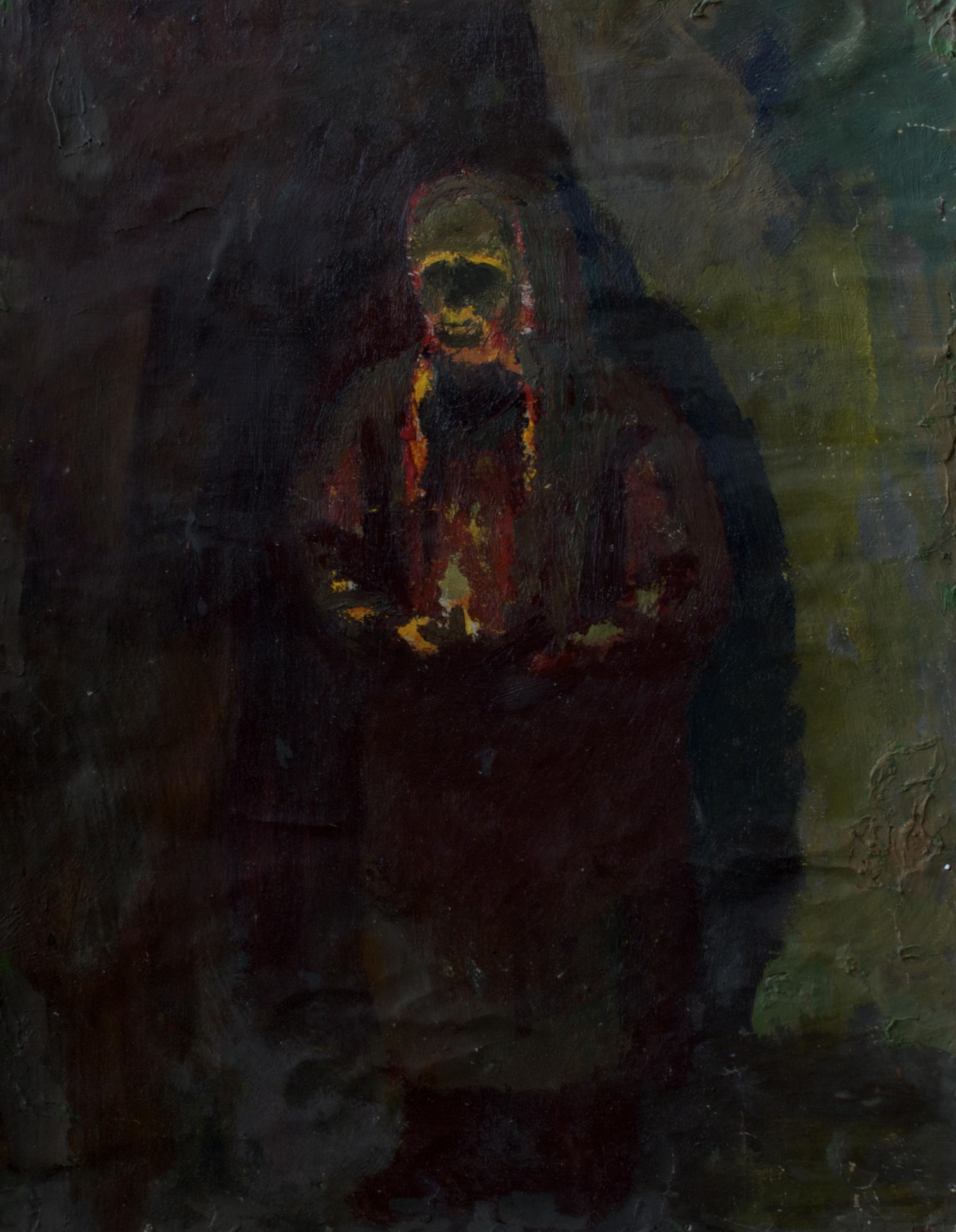 Старуха со свечой