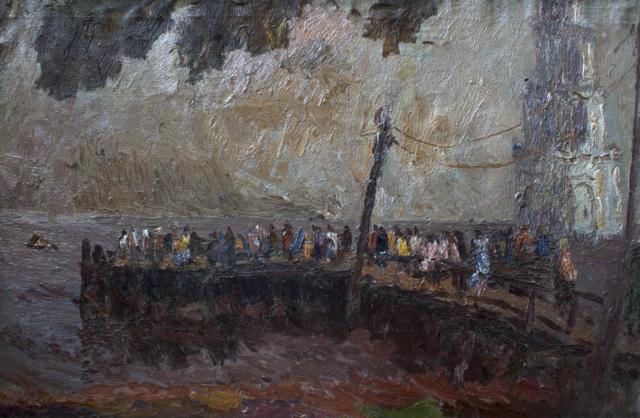 Причал. Колокольня в КлязмеG_1813