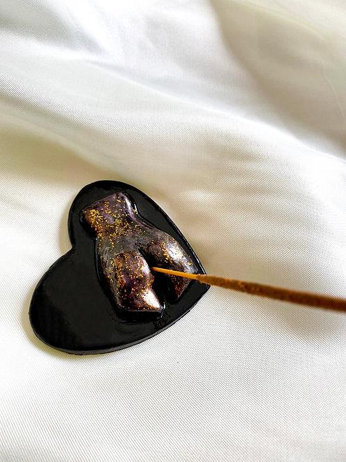 Rusty Cheeks Incense Holder