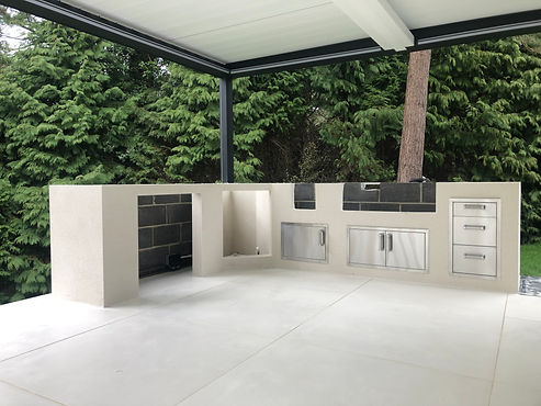 outdoor kitchen render