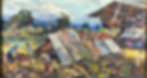 GABRIEL CUSTODIO Landscape-Houses Oil on