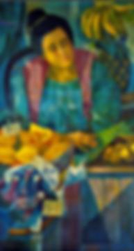 MANANSALA Lady Vendor oil on canvas 24 4
