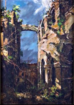 GABRIEL CUSTODIO Ruin oil on canvas 34 4