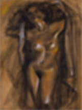 LEGASPI Nude-I charcoal-pastel in pencil