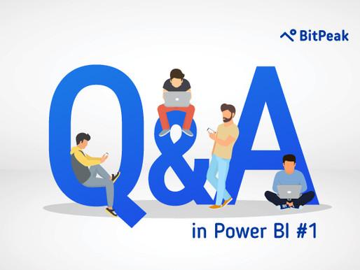 Q&A Part 1 – Pytaj Power BI o swój biznes i uzyskuj odpowiedzi!