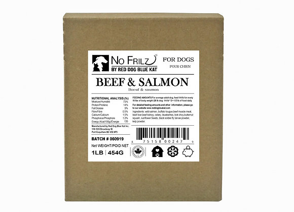 Beef & Salmon Blend 1lb (Case of 6)