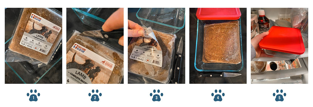 How to thaw raw dog food at home