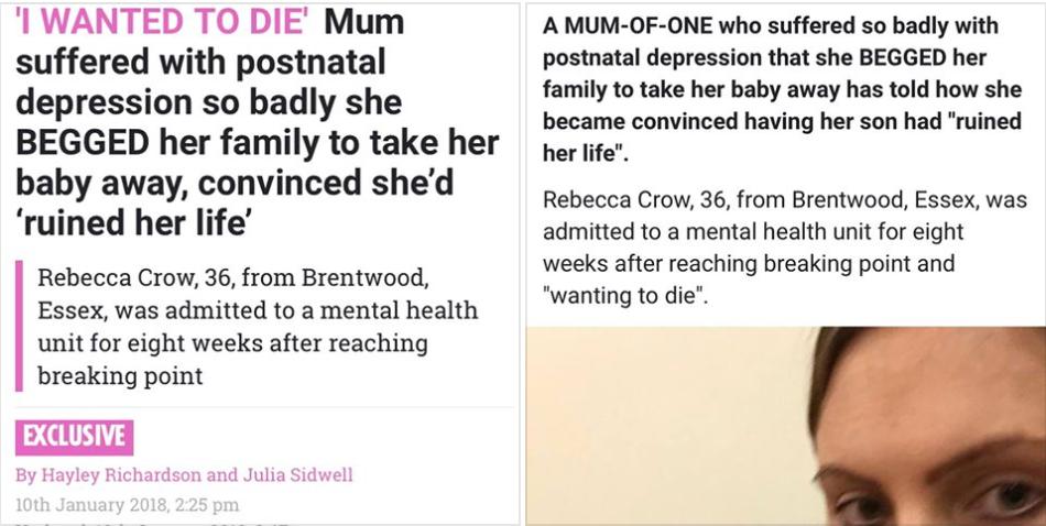 postnatal depression story