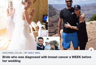 Breast cancer bride: 'I was diagnosed a WEEK before my big day'