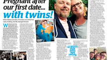 'I fell pregnant on our first date... with TWINS!'