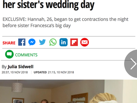 'The bridesmaid's giving birth!'