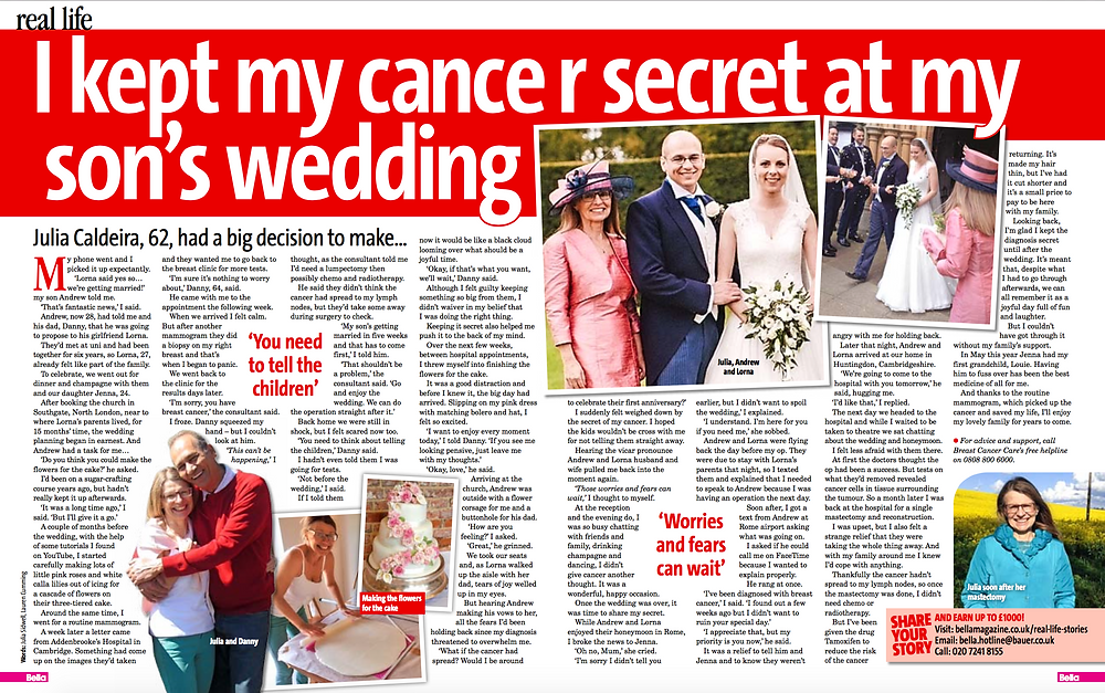 Cancer Real Life Story Bella Magazine